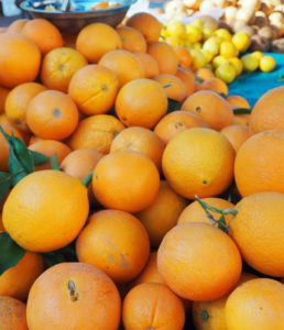 Oranges at Farmers Market