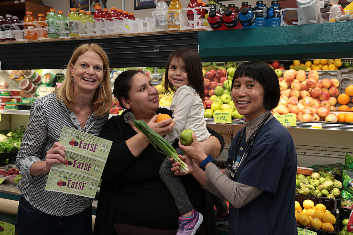 Voucher Participants at Grocery Store