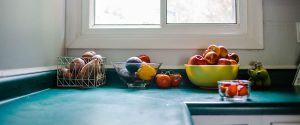 Veggies and Fruit on Kitchen Counter